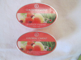 2 Colonial Candle Snaps/Tarts ~GRAPEFRUIT & WHEATGRASS~ for simmer pots - £5.41 GBP