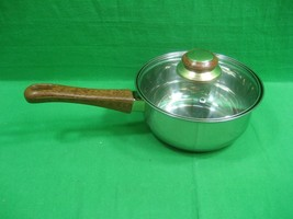 Gourmet Chef 1.5 Qt. Saucepan With Lid ~ Stainless Steel ~ Bakelite Hand... - $15.85
