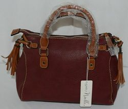 Simply Noelle Brand HB247 Burgundy Color Purse with Side Tassels image 3