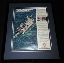 1979 Gulf Oil Hollis Hedberg Framed 11x14 ORIGINAL Vintage Advertisement - $37.04