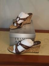 New In Box Franco Sarto Chocolate Kid Wedge Sandals Size 5.5 - $44.50