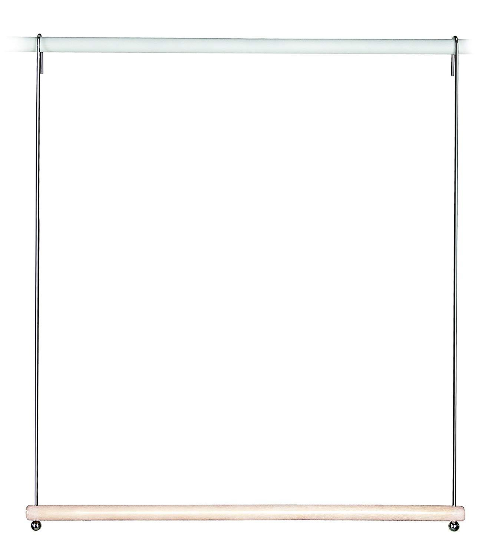 Richards Homewares Closet Doubler/White and Chrome Hanging Frame Wood Rod
