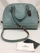 Coach F55449 Powder Blue Sierra Satchel, Debossed Patent Leather - ₹7,376.04 INR