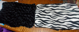 Pair of Black White Zebra Print Throw Pillows  12 x 18 - $49.95