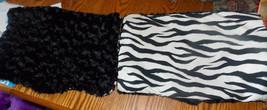 Pair of Black White Zebra Print Throw Pillows  12 x 18 - $49.95