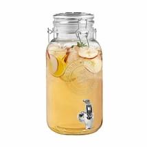 Caribbean Joe Clear Embossed Beverage Dispenser 1 Gallon - $19.99