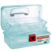 Artist Essential 12-inch Plastic Art Supply Craft Storage Tool Box, Semi... - $19.22