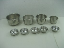 Set of Nine (9) Stackable Stainless Steel Mixing Serving Measuring Bowls - $18.65