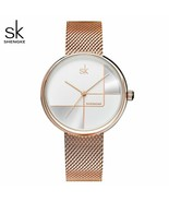 SK® Watches Stainless Steel Mesh Strap Japan Quartz Movement Waterproof ... - $30.38+