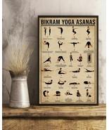 Bikram Yoga Asanas Vertical Art Print Poster, Indoor Home Decoration Gift - $25.59+