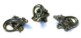 Iguana Fine Pewter Figurine - Approx. 7/8 inch Long     (T233) image 4