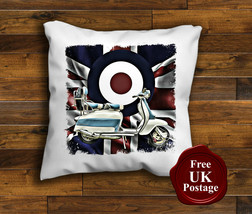Scooter Cushion Cover, lambretta, Target Mod, Union Jack, Choice of sizes, - $8.89+
