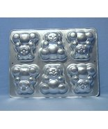 Wilton 6 Mini Bears Cake Pan 2105 4497  1991 - $8.99
