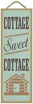 Cottage Sweet Cottage Primitive Wood Plaque - 5 x 15 inch size - $14.99