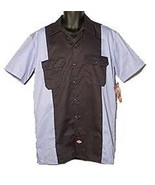Dickies work shirt short sleeve dark navy light blue two tone size 3xl - $21.99