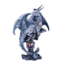 Small Guardian Knight Mystic Dragon Perched On Rock Crystal Rhinestone S... - €12,93 EUR