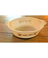 Vintage Fire King Oval Golden Wheat Casserole, 1 1/2 qt. # 467 - $7.50