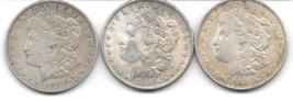 Nice group of three Morgan Dollars from 1921P,1921D&1889. - $84.00