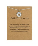 """Compass Necklace Navigation Going Places Silver Dipped 18"""" Meaning card travel - $9.89"""