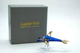 Ocean Blue Dolphin Hand Blown Glass in Gift Box Figurine Aquarium Marine... - $15.39