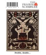 Double Double halloween cross stitch chart Prairie Schooler - $4.00