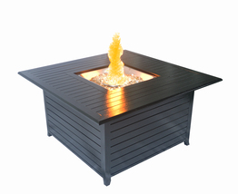SunHeat Lp Firepit Heater 45in 42k btu Aluminum Square Patio Deck Black ... - $899.00