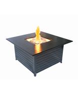SunHeat Lp Firepit Heater 45in 42k btu Aluminum Square Patio Deck Black ... - $899.00