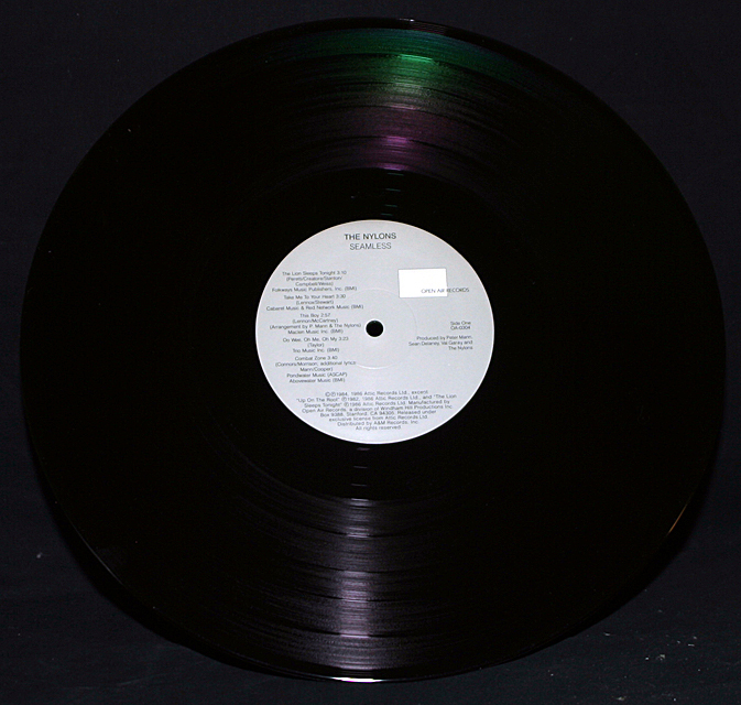 """The Nylons  """"Seamless""""  Open Air Records OA-0304    LP"""