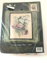 """Candamar Designs Needlepoint VICTORIAN BOUQUET PILLOW  30899 14X14"""" NEW/... - $39.59"""