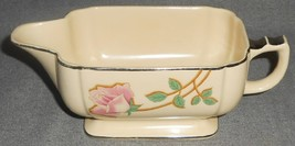 Homer Laughlin WELLS - PINK ROSES PATTERN Art Deco GRAVY BOAT - $10.29