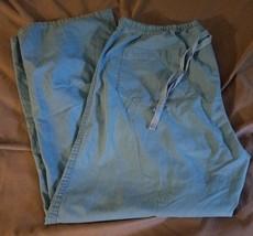 Women's Blue Dickies Scrub Pants Drawstring Size L - $8.86