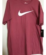 Nike Tee Swoosh Team Crimson Maroon T-shirt Men's Size Large Cotton  DM8... - $17.99
