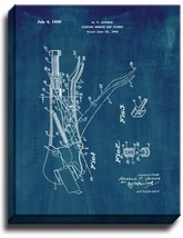 Locking Wrench and Pliers Patent Print Midnight Blue on Canvas - $39.95+