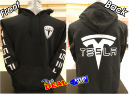 Tesla Motors Logo hoodie jacket pullover Electric Car Automobile - $45.99+