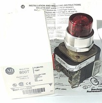 NIB ALLEN BRADLEY 800T-QTH24R PILOT LIGHT W/ HIGH VISIBILITY LED 24V RED LENS