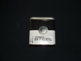 collectible 1997 fossil watch  steel empty box - $11.88