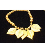 "14"" Leaf Necklace With One Gold Leaf - $5.00"