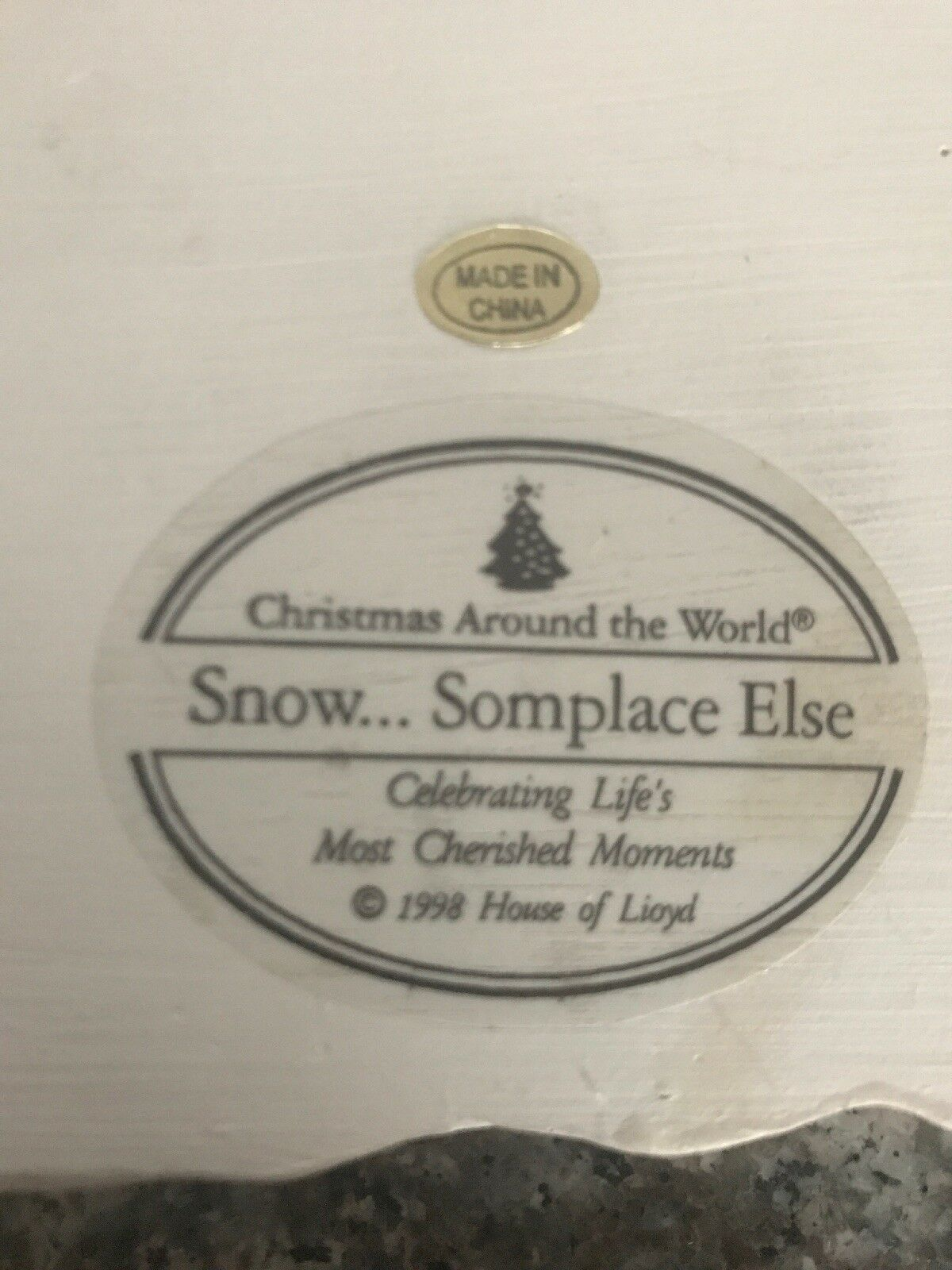 Let It Snow....Someplace Else Angel Plaque, Vintage in Box, 1998, House of Lloyd