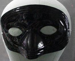 BLACK PLASTIC HALF MASKS IN LOTS OF 36 - $9.00