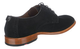 Handmade Men's Black Suede Dress Formal Oxford Shoes image 3
