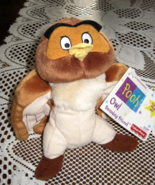 Disney Store-Owl- Bean Bag Friend-Stuffed Animal- Pooh-7 inch- Fisher Pr... - $8.00