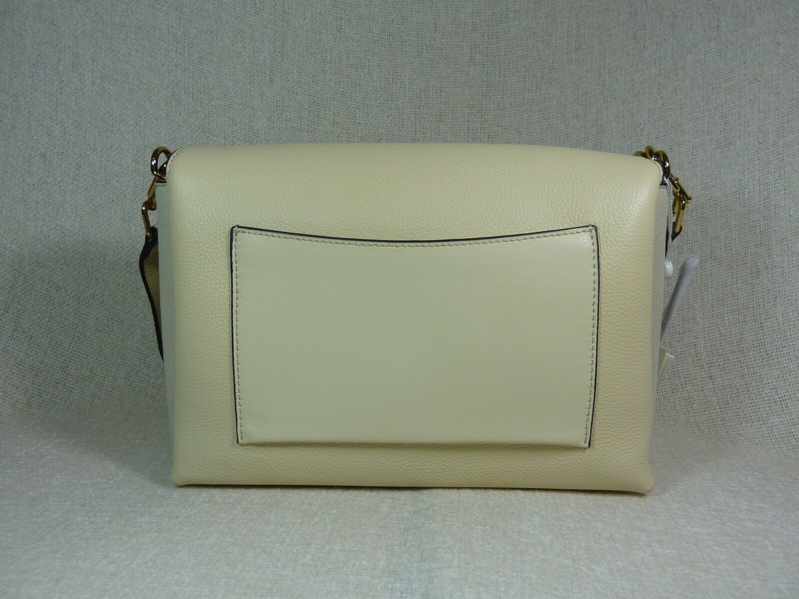 NWT Tory Burch New Cream KIRA Mixed-material Double-strap Shoulder Bag image 4