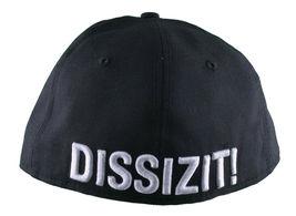 Dissizit California Skating Bear Sk8 Black W New Era 59FIFTY Fitted Baseball Hat image 4