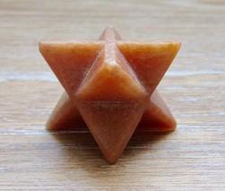 Peach Aventurine Merkaba Star Point Stone Healing Natural Reiki Energy H... - $12.14