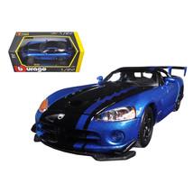 Dodge Viper SRT/10 ACR Blue/Black 1/24 Diecast Model Car by Bburago 22114bl - $35.13