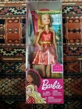 Barbie Christmas Holiday Doll Fashion Dress Purse Shoes Blonde Hair Distress Box - $24.74
