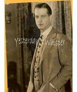 1920s White Studio Photo Alan Dinehart Cohan production K278 - $14.99