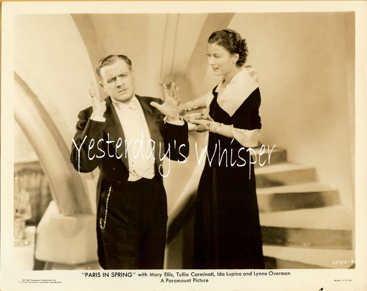 1930s Vintage Movie Still Mary Ellis Paris in Spring K517