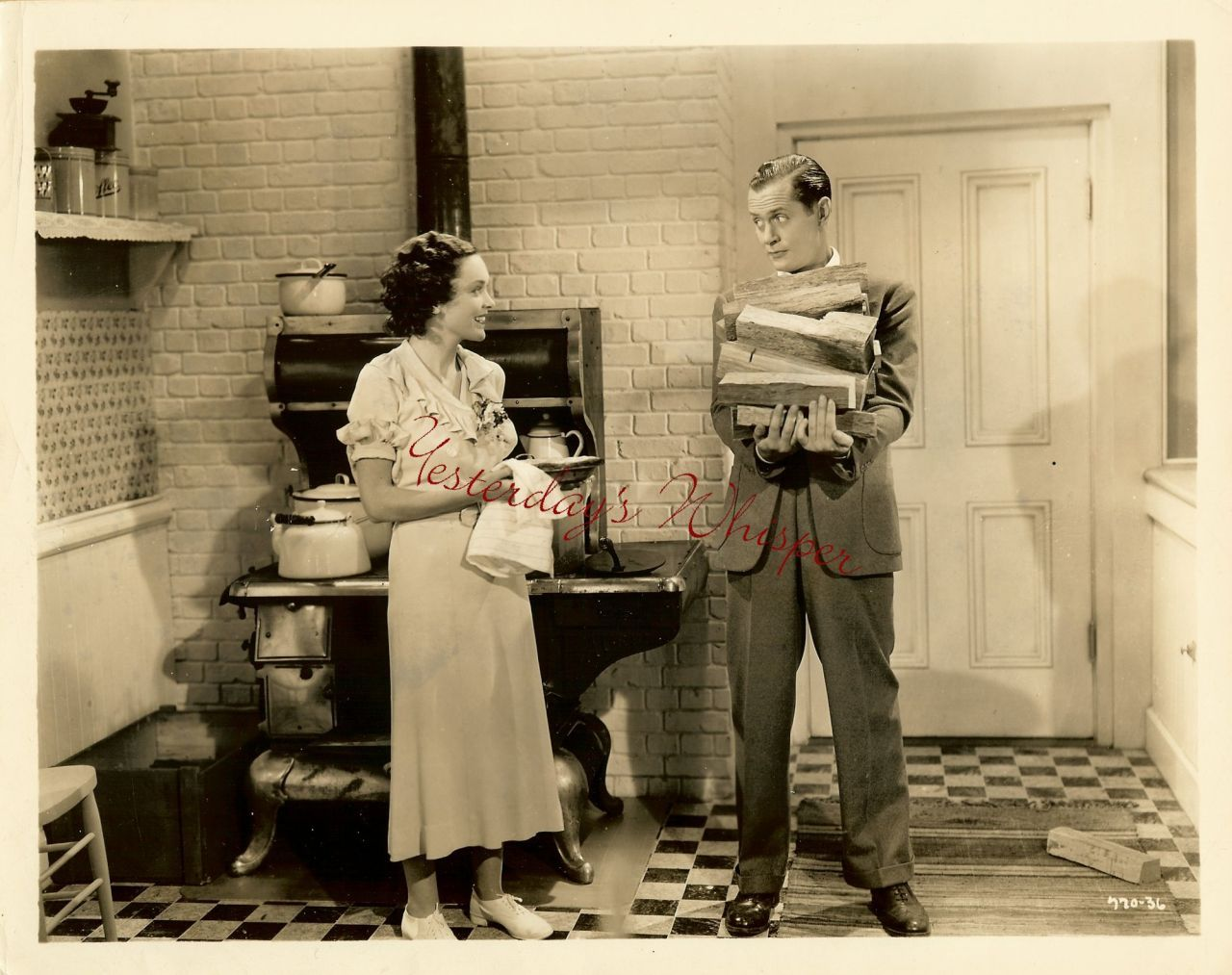 1930s Movie PHOTO Maureen O'Sullivan Robert Montgomery K466