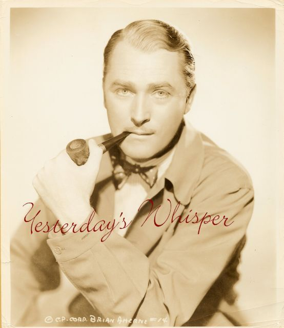 1930s Movie Publicity PHOTO Brian Aherne Smoking Pipe k372
